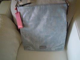 S. OLIVER Schultertasche / Crossbody Bag hellblau-silber größenverstellbar