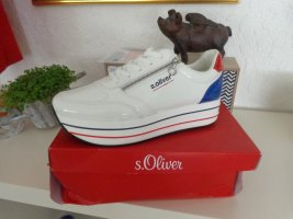 s.Oliver Heel Sneakers white-red mixture fibre