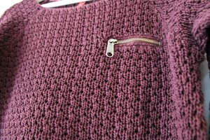 s. Oliver (QS designed) Coarse Knitted Sweater bordeaux cotton