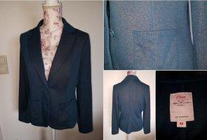 Fashion hero for s.Oliver Jersey Blazer dark blue cotton