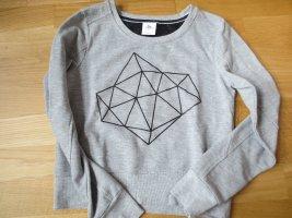 S'oliver Sweater Pullover, Gr. 36/S, grau, mit Diamant Aufdruck