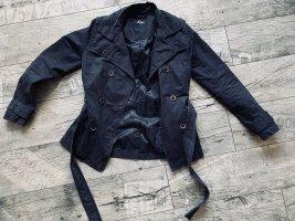 S.Oliver Trenchcoat Jacke marine blau dunkelblau wie neu Gürtel S 36