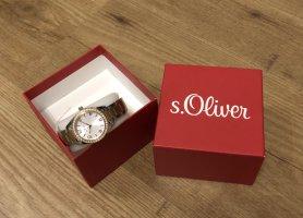 s.Oliver Montre avec bracelet métallique argenté-bronze