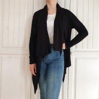 S Zero Cardigan schwarz Strickjacke Pulli Pullover jacke mantel wasserfall