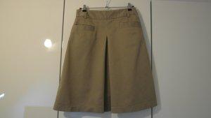 Mango Fringed Skirt sand brown cotton