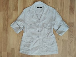 s. Oliver (QS designed) Blusa de lino beige claro Lino