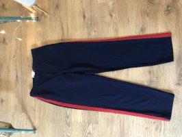 H&M Luźne spodnie czerwony-ciemnoniebieski