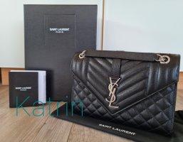 Saint Laurent Handbag black-silver-colored