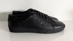 Saint Laurent Low Top Sneaker Gr. 39 schwarz Logo