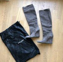 Saint Laurent Overknees grey brown-taupe