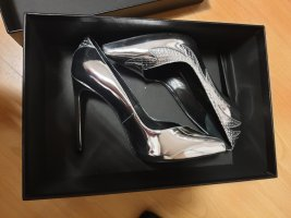 Saint Laurent Pumps, Silber, 37