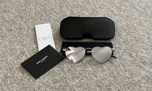 Saint Laurent Sonnenbrille Herzform verspiegelt