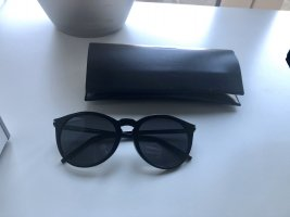 Saint Laurent Lunettes de soleil ovales noir