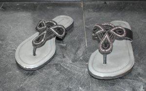 Salamander Flip flop sandalen zwart