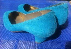 Classic Court Shoe neon blue-light blue leather