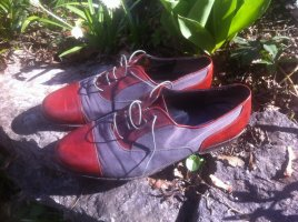 Wingtip Shoes dark grey-russet leather