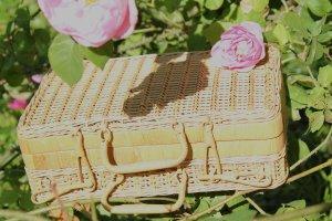 Torebka koszyk piaskowy brąz