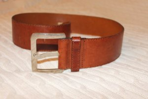Marc O'Polo Leather Belt cognac-coloured-dark orange leather