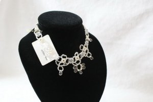 Collier Necklace white-silver-colored synthetic material