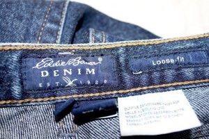 Eddie Bauer Hoge taille jeans donkerblauw Katoen