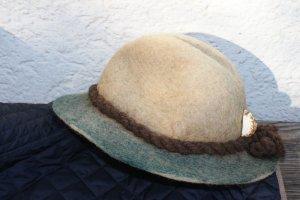 Felt Hat khaki-sage green wool