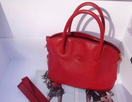 "SALE:""Longchamp"" neuwertig Lederhandbag +riemen"