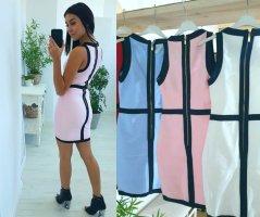 Bandeau Dress white-black