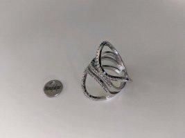 SALE SALE SALE Designerring 925 Silber mit vielen Zirkoniasteinen/ Gr. 55(17,8 mm)