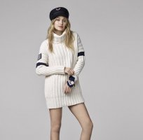 Gigi Hadid x Tommy Hilfiger Robe en laine multicolore laine