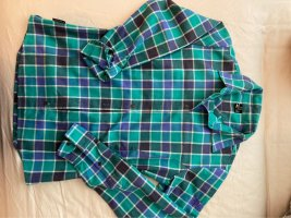 Salewa Fleece Hemd grün/blau
