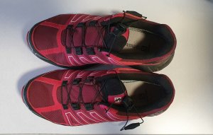 Salomon Outdoor Schuh Gr. 38 2/3 (UK 5.5) rot/pink