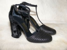Salvatore ferragamo T-Strap Pumps black pelt