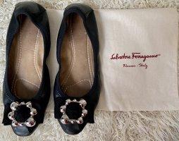 Salvatore Ferragamo Lammleder Ballerinas