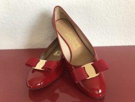 Salvatore ferragamo Patent Leather Ballerinas red