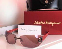 Salvatore ferragamo Gafas de sol cuadradas rojo-color plata Material sintético