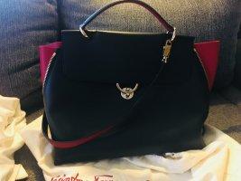 Salvatore ferragamo Handbag black-red leather