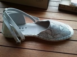 DSTRCT Espadrille Sandals silver-colored-light grey