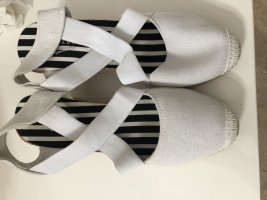 Espadrille sandalen wit Linnen