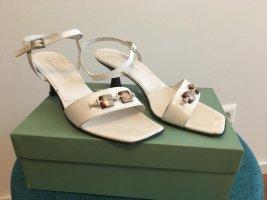Calliope Sandalo con cinturino bianco