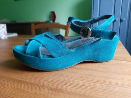 Sandale aus Rauhleder