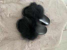 Sandały japonki czarny