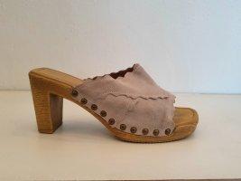 Sandale, Clogs, Größe 36, beige