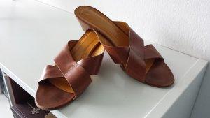 Sandale Pantolette von Rene Lezard, braun, Leder