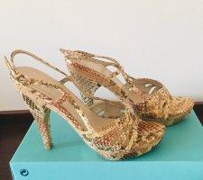 100% Fashion Sandales à plateforme multicolore
