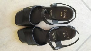 Jenny by ara Strapped Sandals black leather