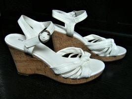 Sandale Sandalette Keilabsatz Plateausohle