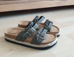 Sandale von Biosoft * Gr.35 * Zopf-/ Flecht-Riemen * nie getragen