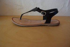 Copo da Nieve Sandalo toe-post nero Pelle
