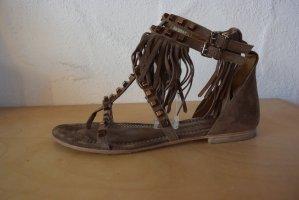 Kennel und Schmenger Sandalo toe-post marrone Pelle