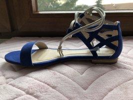 I love my Shoes Sandały rzymskie niebieski-srebrny